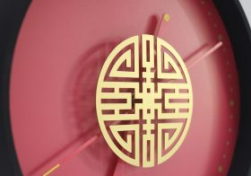 ww-时来运转计时器 good fortune time clock-fu,lu,xi expresses people's best wishes
